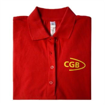 Polo rojo con manga larga Cgb
