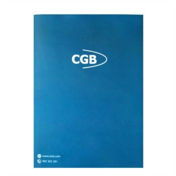 Carpeta color azul y verde Cgb