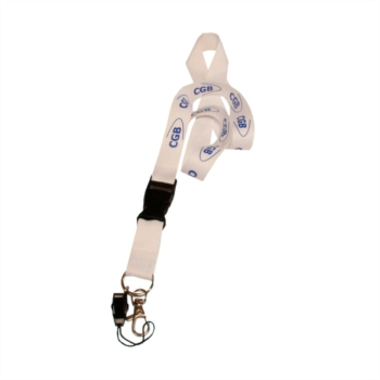 Lanyard color blanco Cgb