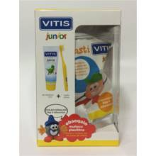 VITIS JUNIOR GEL DENTIFRICO 75ml + CEPILLO JUNIOR + Regalo Muñeco plastilina