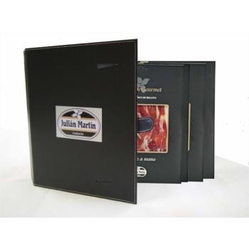 "S.G. Oferta Bienvenida - Caja de regalo, compuesta por 5 sobres de Jamón de Bellota 100%  Ibérico Cortado a cuchillo marca ""Selección Gourmet"""