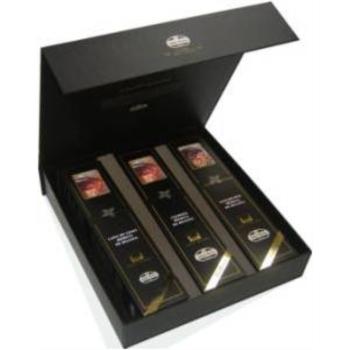 S.G.Caja regalo 3 medias piezas de Ibérico de Bellota Selección Gourmet (lomo, chorizo y salchichón)
