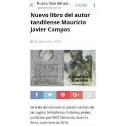 Diario La Voz de Tandil 2016.