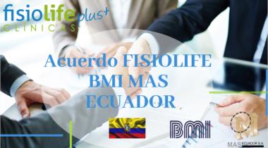 Acuerdo Fisiolife y BMI, MAS ECUADOR