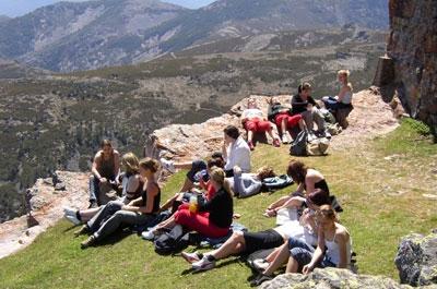 Estudiantes excursión