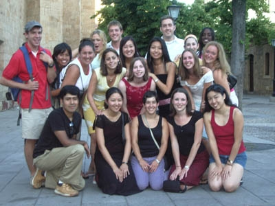 Estudiantes del colegio hispano continental