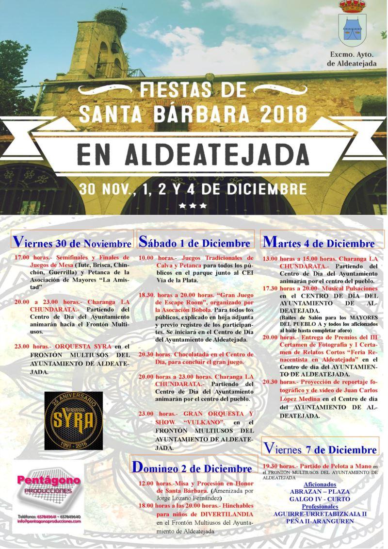 cartel Santa Bárbara 2018