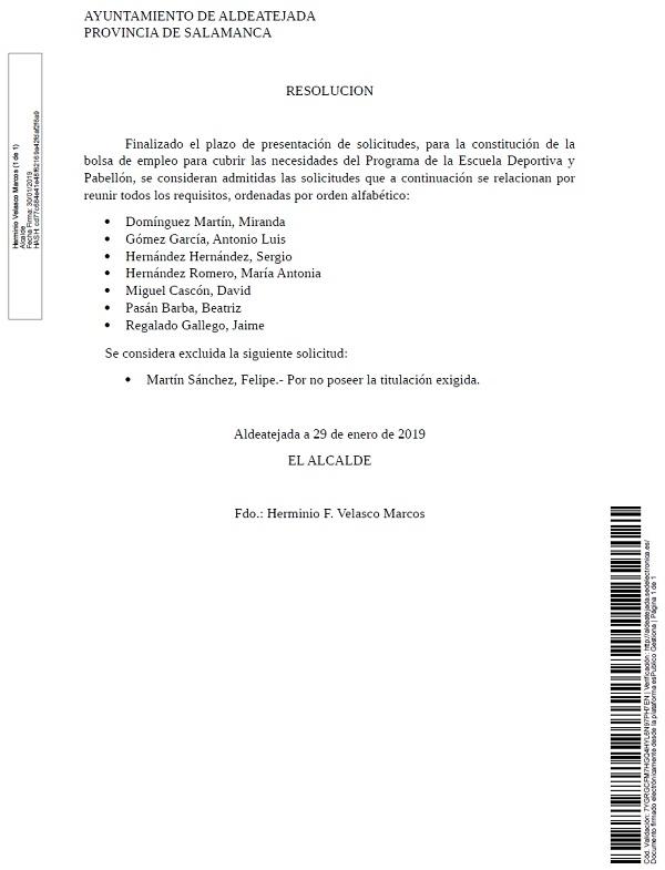 Ayuntamiento de Aldeatejada