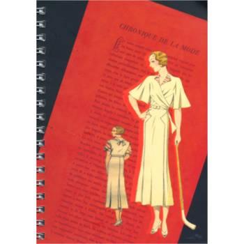 Libreta - Bocetos de moda años 20