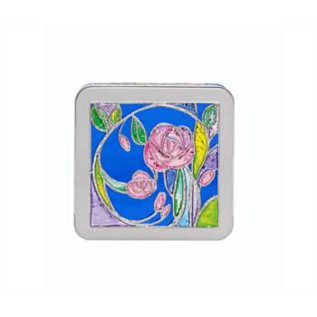 """Caja de galletas Churchill's en lata de colección """"Rose Garden"""""""