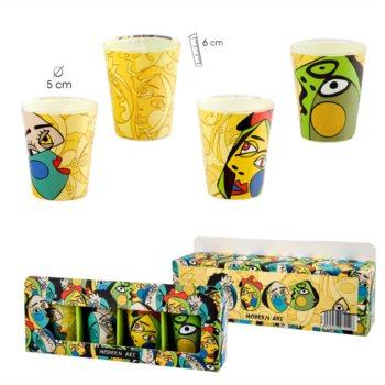 Vasos de Chupito con Diseño Cubista
