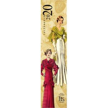 Calendario de colección 2020: Bocetos de moda años 20 y 30