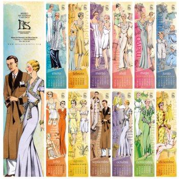 Calendario de colección 2021: Bocetos de moda años 20 y 30.