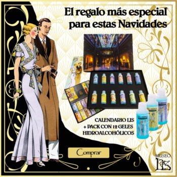 "Colección de 12 geles hidroalcohólicos (70%) Alcántara y Calendario de Colección ""Moda Años 20"""