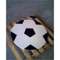 balon compacto blanco y granito negro