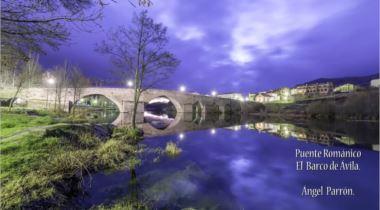 Atardecer en el puente viejo de Barco de