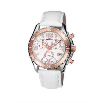 Reloj cronógrafo acero bic ip rosa mujer correa Sandoz 81292-90
