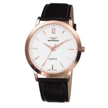 Reloj acero ip rosa hombre correa Sandoz 81335-90