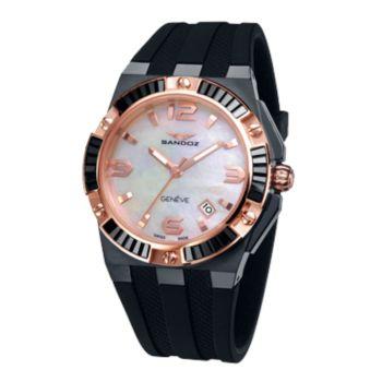 Reloj acero y cristales mujer correa Sandoz 81300-99