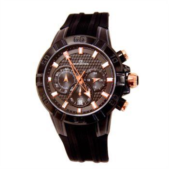 Reloj analógico y cronógrafo Minister 8828Nm color negro y marrón hombre