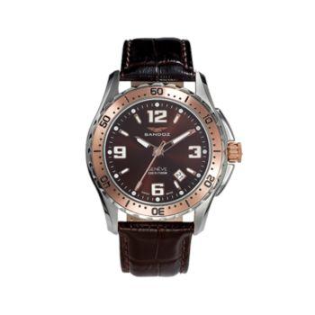 Reloj analógico y acero Sandoz 81331-94 color marron hombre