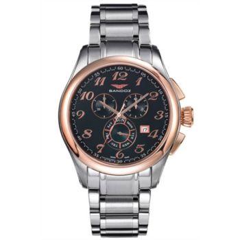 Reloj analógico cronógrafo y acero Sandoz 81343-95 color plata hombre brazalete