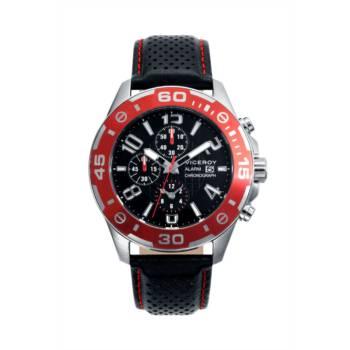 Reloj analógico cronógrafo y acero Viceroy 40417-55 Color negro y rojo brazalete hombre