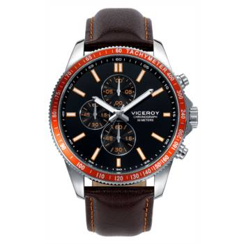 Reloj analógico cronógrafo y acero Viceroy 40433-95 color marron y naranja brazalete hombre