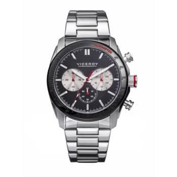 Reloj analógico cronógrafo y acero Viceroy 46605-57 color plata y negro brazalete hombre