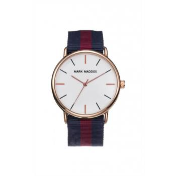 Reloj analógico Mark Maddox Hc3010-07 color azul y rojo brazalete hombre
