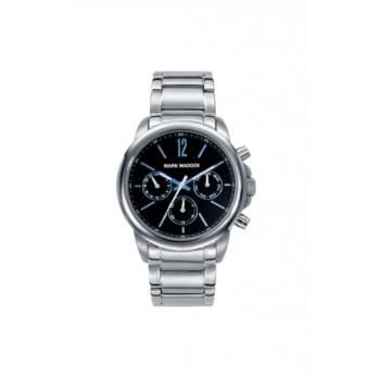 Reloj analógico cronógrafo y multifunción Mark Maddox Hm7002-55 color plateado brazalete hombre
