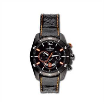 Reloj analógico y cronógrafo Minister 8807Na color negro y naranja hombre