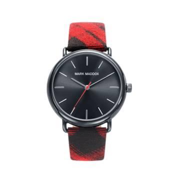 Reloj analógico mark Maddox Hc3029-17 color rojo y negro brazalete hombre