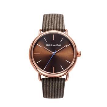 Reloj analógico Mark Maddox Hc3029-97 color marrón brazalete hombre
