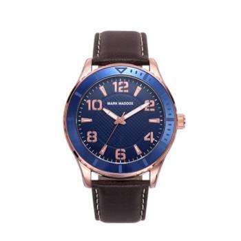 Reloj analógico Mark Maddox Hc6013-35 color marrón brazalete hombre