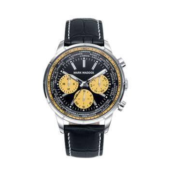 Reloj analógico cronógrafo y multifunción Mark Maddox Hc7002-57 color negro brazalete hombre