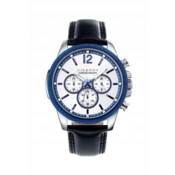 Reloj analógico cronógrafo y acero Viceroy 40507-05 color azul brazalete hombre
