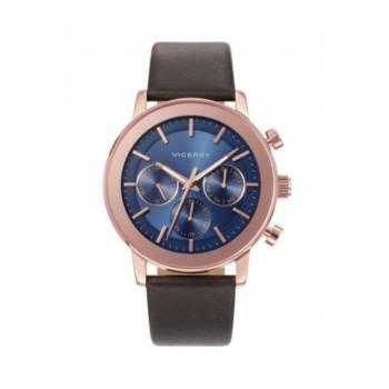 Reloj analógico cronógrafo multifunción y acero Viceroy 47897-37 color marrón brazalete hombre